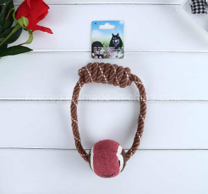 Pet Supply Dog Rope Toy with Tennis Ball (KT0005) pictures & photos