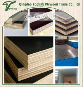 Film Faced Plywood/ Construction Plywood / Shuttering Plywood with Poplar Core pictures & photos