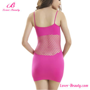 Sexy Bright Rose Honeycomb Fishnet Hollows Lingerie pictures & photos