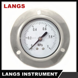 029 High Quality Brass Internal Oil Filling Pressure Gauge with Flange pictures & photos