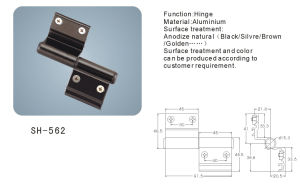 Aluminium Hinge for Doors and Windows (SH-562) pictures & photos