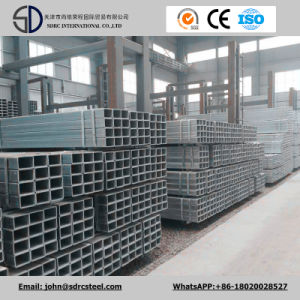 Q235 Q345 Ss400 Hot DIP Galvanized Square Tube with Holes for Frame pictures & photos