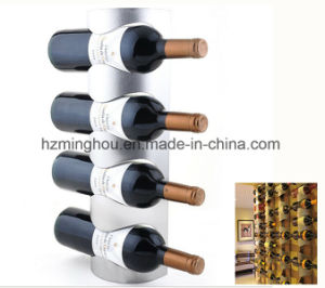 Modern Stainless Steel Wall Mounted Wine Rack Hold 4-Bottles Stander pictures & photos