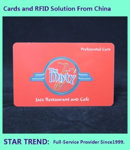 Spot Varnished PVC Card with Magnetic Stripe for Restaurants pictures & photos