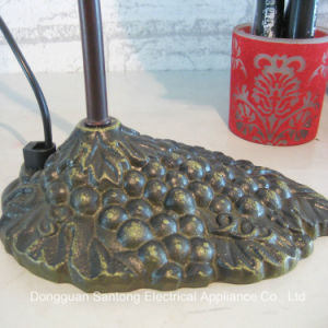 Modern Rose Flower UL Brown Tiffany Table Lamp pictures & photos