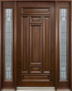 Home Solid Wood Glass Interior Door 1d+2SL (GSP1-034) pictures & photos