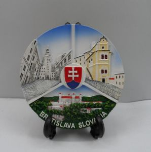 Printing Resin Country Travel Souvenir Plate for Decoration pictures & photos
