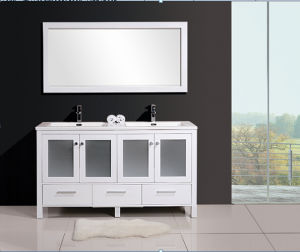 High Quality Painting Bathroom Cabinet with Wash Basin pictures & photos