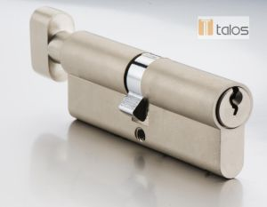 Euro Thumbturn Cylinder Lock Satin Brass pictures & photos