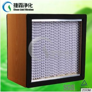 Ahu System H13 H14 Mini Pleat HEPA Filter for Pharmaceutical pictures & photos