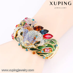 Bangle -68 Fashion Luxury Colorful Rhinestone Wedding Banlge in Flower Deisgn pictures & photos