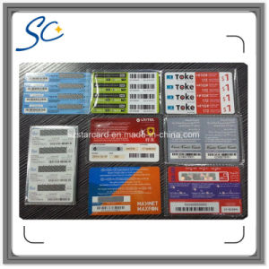 Free Sample Paper Custom Prepaid Scratch Card with 3in1/4in1/5in1 pictures & photos