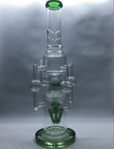 Creative Green Recycler Oil Rings Glass Water Pipe