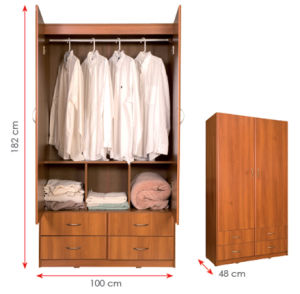 Bedroom Furniture Wooden Clothes Storage Cabinet /Wardrobe (HX-DR060) pictures & photos
