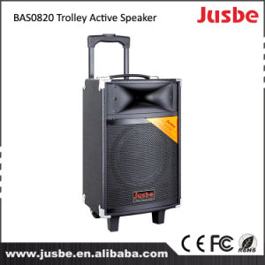 Jusbe Rechargeable Outdoor Karaoke Trolley Speaker with Remote Control Bas0820 pictures & photos