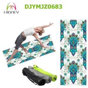 Flower Printed Yoga Mat Foldable Durable pictures & photos
