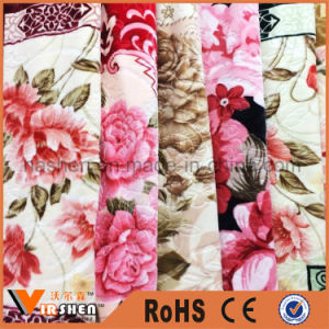 100% Polyester Plain Dyed Super Soft Fleece Picnic Blanket pictures & photos