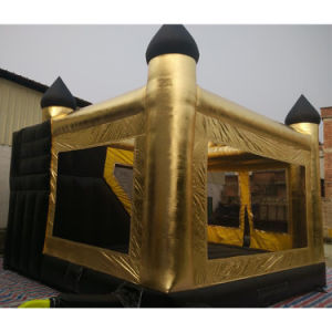 Customized Gold Tarpaulin Inflatable Castle Bouncer pictures & photos