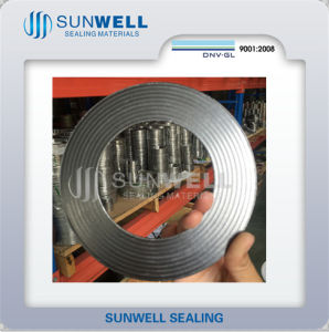 Corrugated Metal Gaskets (CGM) ASME B16.5 Flanges (SUNWELL) pictures & photos