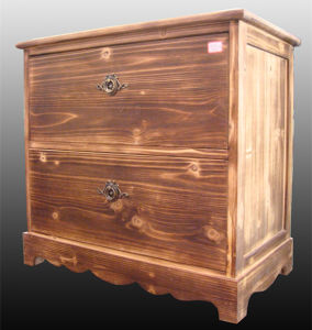 Indoor Furniture Bedroom Wooden Locker Cabinet with Two Drawers pictures & photos