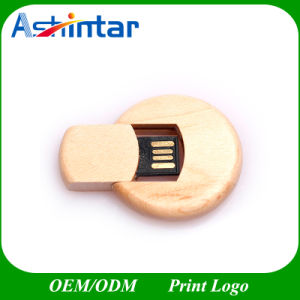 Cross Round Wooden USB Flash Drive Swivel USB Stick pictures & photos