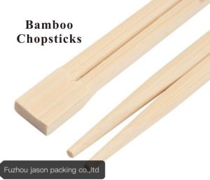 Disposable Plastic Paper Covered Twin Bamboo Chopsticks pictures & photos