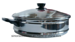 Stainless Steel Double-Layer Composite Bottom Steamed Multi-Functional Nutritional Saucepan pictures & photos