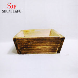 Wholesale Price Square Wood Planter Container for Flower Planting pictures & photos