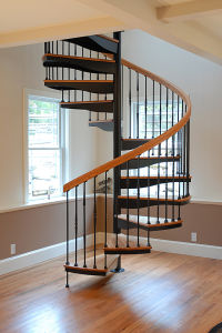 DIY Indoor Wrought Iron Wooden Spiral Staircase Prices pictures & photos