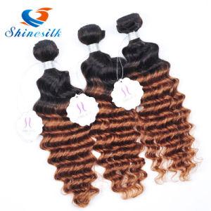 Brazilian Hair 4 Bundles Brazilian Deep Wave 1b30 Blonde Brazilian Hair Weave Bundles Ombre Hair Extension Ombre Weave pictures & photos