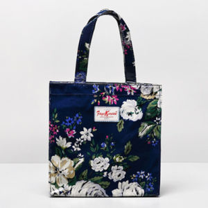 White Flowers Blue Small Size Shoulder Bag (9923-26)