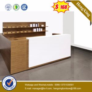 Check-in Office Furniture 2.4m Wooden Front Table Reception Desk pictures & photos