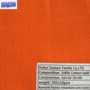 Cotton 10*10 76*50 343GSM Fireproof Flame-Retardant and Anti-Static Fabric for Protective Clothes PPE pictures & photos
