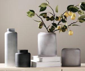 Straight Glass Flowerpot (dark gray) pictures & photos