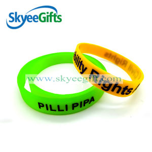 Popularpromotional Printing Silicon Wristband Cheap Customized Rubber Bracelets pictures & photos