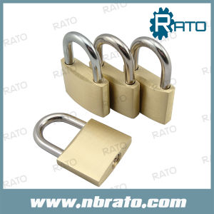 40mm Tri-Circle Solid Brass Padlock with Master Key pictures & photos