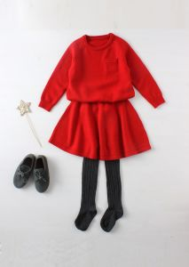 Phoebee Wool Red Girls Sweater for Winter pictures & photos