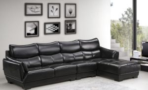 Brown Color Living Room Combination Corner Leather Sofa (HX-SN030) pictures & photos