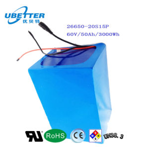 E-Motor High Energy Storage 60V 50ah LiFePO4 Battery Pack pictures & photos