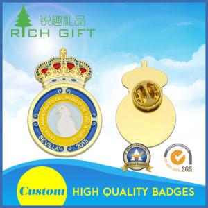 Custom Design Metal Bar Pin Clip Coin Badge with Soft/Hard/Imitation Hard Enamel pictures & photos