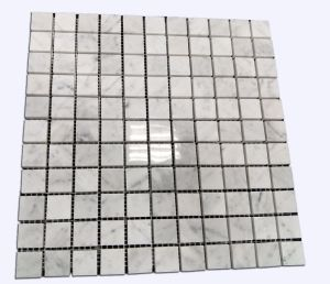 Low Price Carrara White Square Mosaic for Swimming Pool Tile pictures & photos