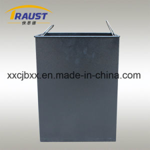 High Quality Outdoor Classification Curbside Rubbish Barrel, Wood and Iron Garbage Can pictures & photos