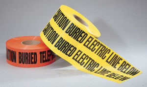 Underground Non Detectable Warning Tape Water Line Below Protection Tape pictures & photos