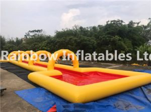Inflatable Long Lane Summer Water City Slide for Commercial Rental Use pictures & photos