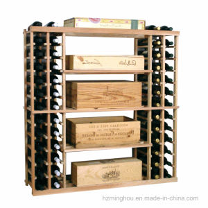 Vintage 126 Bottle Wood Wine Shelving Rack Assemble Wine Cellar pictures & photos