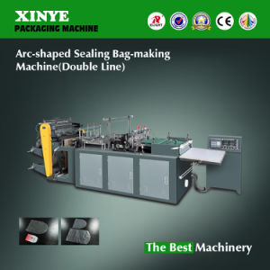 PVC PE I/II Arc-Shaped Sealing Bag-Making Machine (PVC PE400/500/600/700) pictures & photos