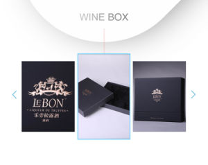 New Fashion High-End Black High Glossy PU Lacquer Wine Box pictures & photos