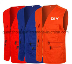 OEM Logo Cotton Advertising Photographer Shoot Fishing Vest for Promotion pictures & photos