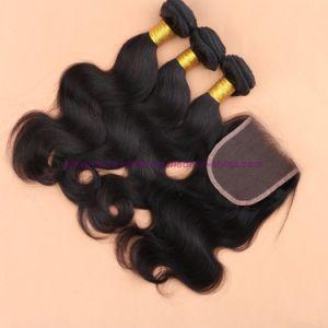 8A Grade Virgin Unprocessed Hair Peruvian Body Wave Bundles with Lace Closure Human Virgin Hair pictures & photos