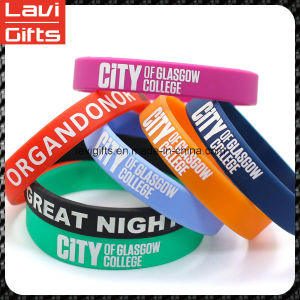 Color Brilliancy Custom Silicone Rubber Bracelet with Logo pictures & photos